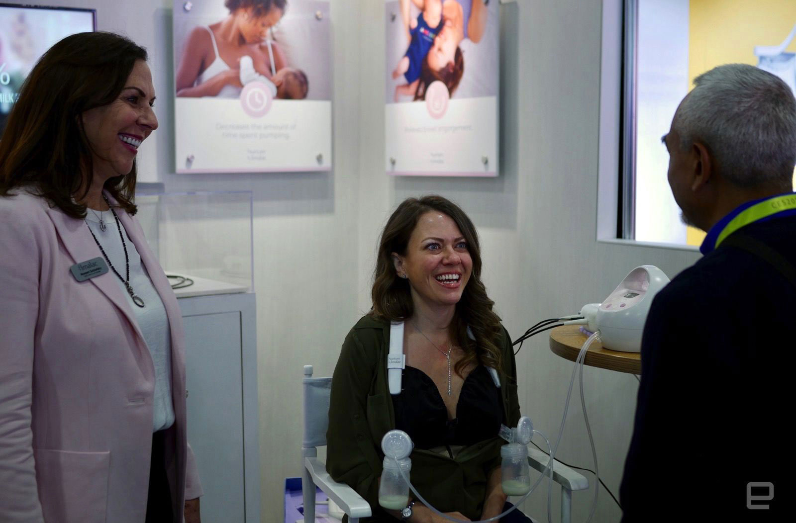 woman pumped breast milk on the CES show floor. So what?